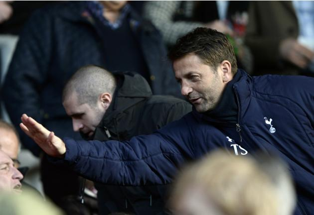 Tottenham Hotspur caretaker manager Tim Sherwood attends their English Premier League soccer match against Southampton at St Mary's stadium in Southampton