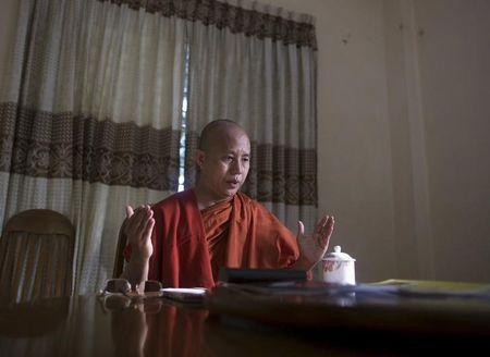 Myanmar radical monk endorses ruling party in election, raps opposition