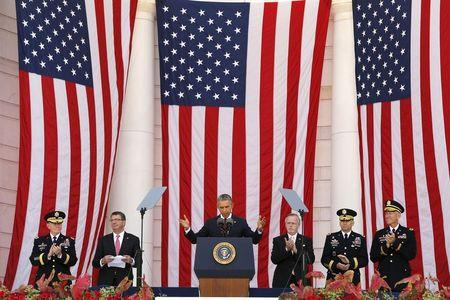 Obama heralds first U.S. Memorial Day without ground war in 14 years