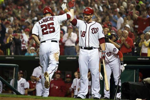 LaRoche gets 100th RBI with 33rd HR in Nats' win