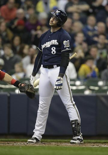 Ryan Braun out of Brewers' lineup in one-game shakeup