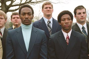 Anthony Mackie and Arlen Escarpeta in Warner Bros. Pictures' We Are Marshall