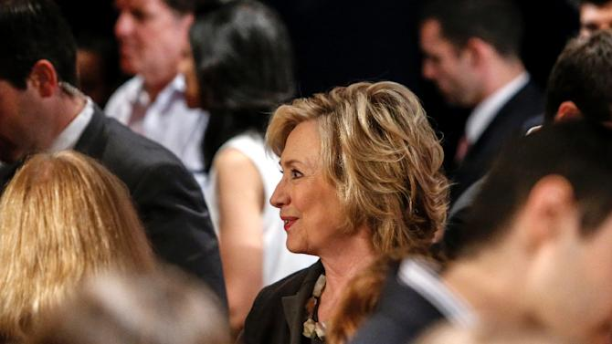 Democratic presidential candidate Hillary Clinton attends an event at the New York University Leonard N. Stern School of Business on July 24, 2015