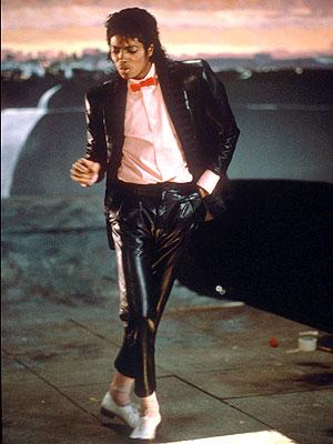 Billie Jean's shiny tuxedo and white socks and shoes