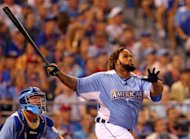 Detroit Tigers slugger Prince Fielder at bat during the final round of the Home Run Derby on July 9. Fielder belted 12 home runs in the final round to win the event, part of the Major League Baseball All-Star festivities