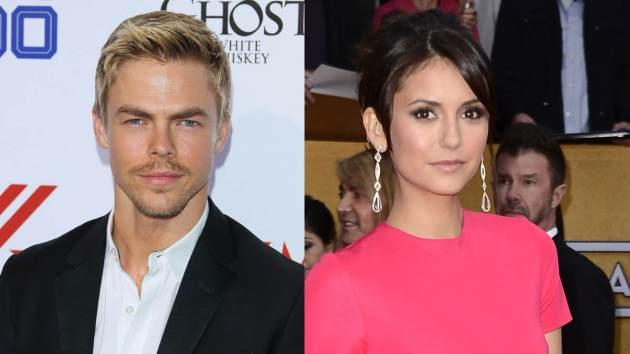 Derek Hough, Nina Dobrev -- Getty Images
