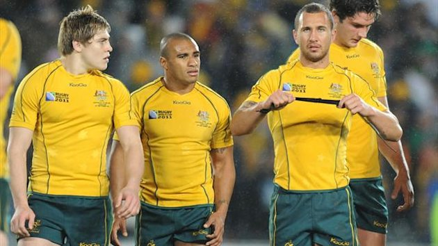 James O'Connor, Will Genia and Quade Cooper (AFP)