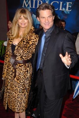 Goldie Hawn and Kurt Russell at the LA premiere of Disney's Miracle