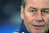 Schalke&#39;s Dutch head coach Huub Stevens attends the team&#39;s German first division Bundesliga football match against Freiburg in Gelsenkirchen, western Germany on December 15, 2012. Schalke 04 have sacked Stevens after their 3-1 defeat left them with two points in their last six Bundesliga games, the club announced