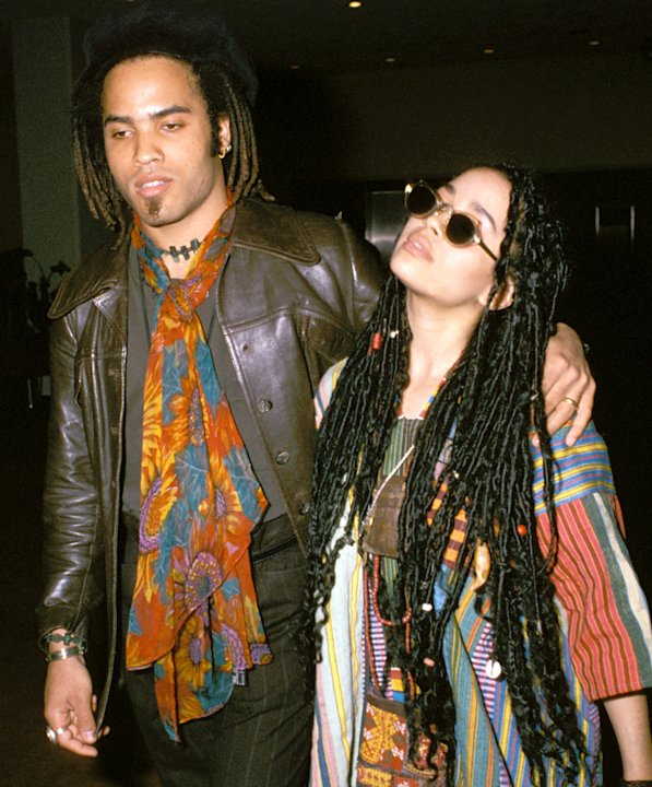 Lenny Kravitz and Lisa Bonet