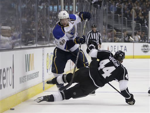 LA Kings' Quick blanks Blues 1-0