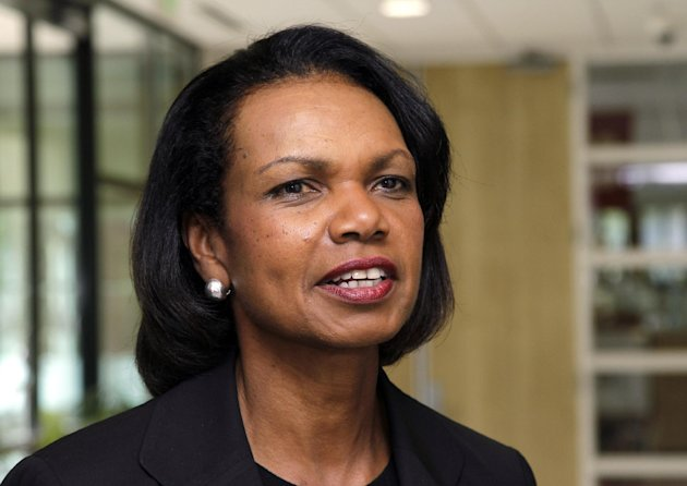 FILE - In this July 19, 2012, file photo, Condoleezza Rice talks on the Stanford University campus in Palo Alto, Calif. Rice has joined CBS News as a contributor. CBS News Chairman Jeff Fager and president David Rhodes say Rice &quot;will use her insight and vast experience to explore issues facing America at home and abroad.&quot; Rice served as secretary of state during President George W. Bushs second term. She was the first African-American woman to hold the post. Rice was Bushs national security adviser during his first term and worked on the National Security Council under President George H.W. Bush.(AP Photo/Paul Sakuma, File)