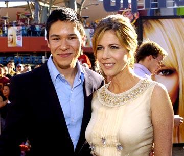 Oliver James and Rita Wilson at the Los Angeles premiere of New Line Cinema's Raise Your Voice