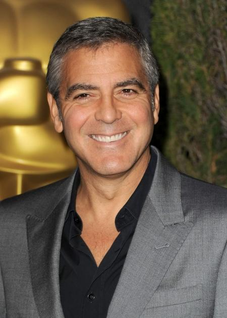 George Clooney arrives at the 84th Academy Awards Nominations Luncheon at The Beverly Hilton hotel on February 6, 2012 in Beverly Hills -- Getty Images