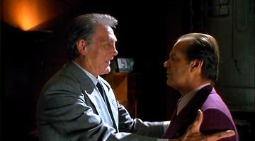 Jack Palance as Grissom and Jack Nicholson as Jack Napier in Warner Brothers' Batman