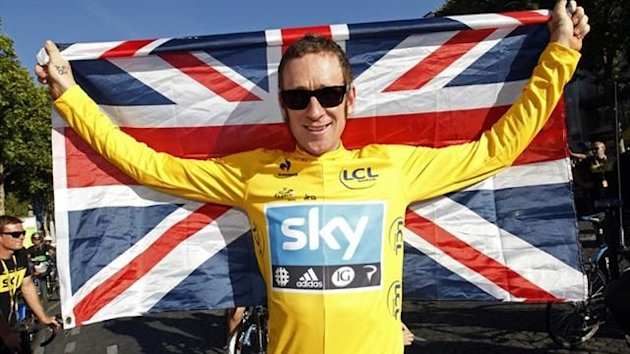 Bradley Wiggins celebrates his Tour de France success (Reuters)