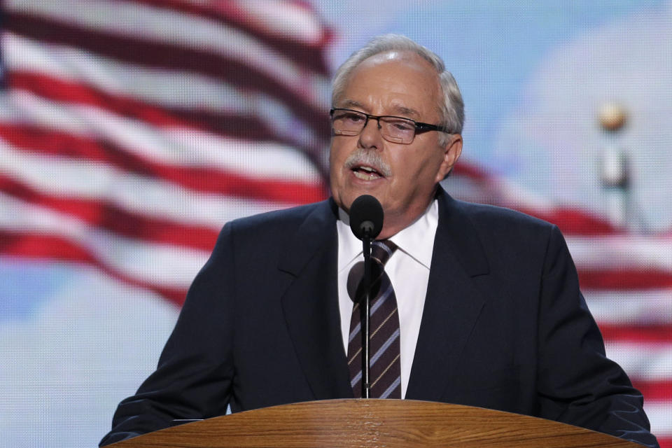 Costco co-founder and former CEO Jim Sinegal addresses the Democratic National Convention in Charlotte, N.C., on Wednesday, Sept. 5, 2012. (AP Photo/J. Scott Applewhite)