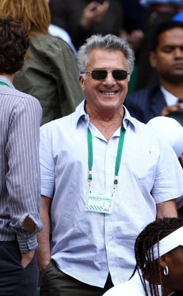 Actor Dustin Hoffman attends the Ladies' Singles third round match Serena Williams of the USA and Jie Zheng of China on day six of the Wimbledon Lawn Tennis Championships at the All England Lawn Tennis and Croquet Club at Wimbledon on June 30, 2012 in London, England. (Photo by Clive Brunskill/Getty Images)