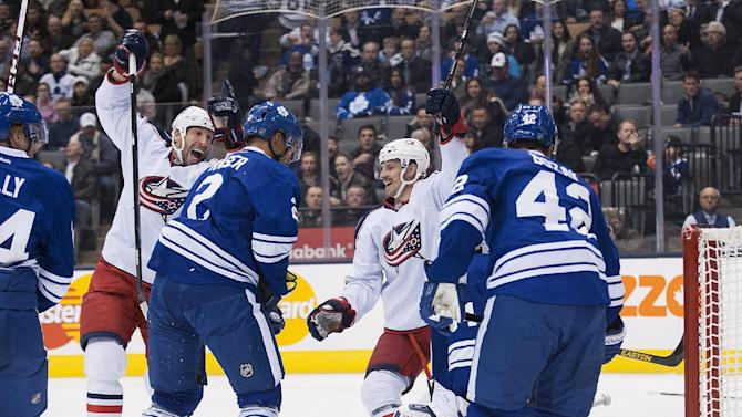 Blue Jackets rout Maple Leafs and Reimer 6-0