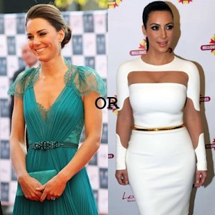 Kim K. or Kate Middleton?