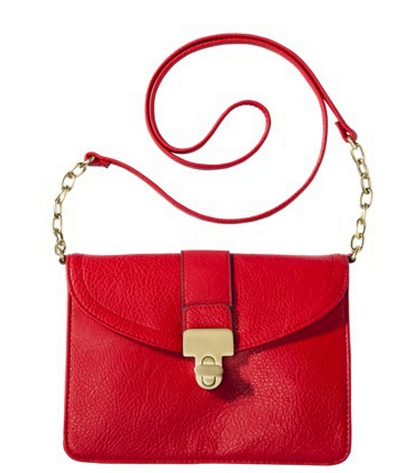 Gold and Red Cross-Body Bag