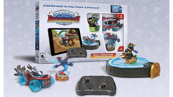 The full Skylanders SuperChargers is coming to iOS too