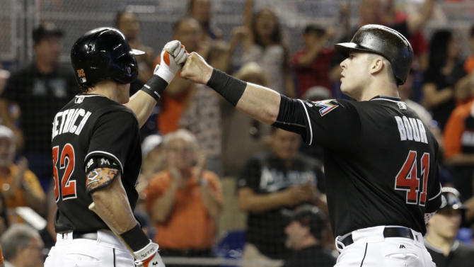 Bour and Stanton each drive in 3, Marlins top Cubs 9-6