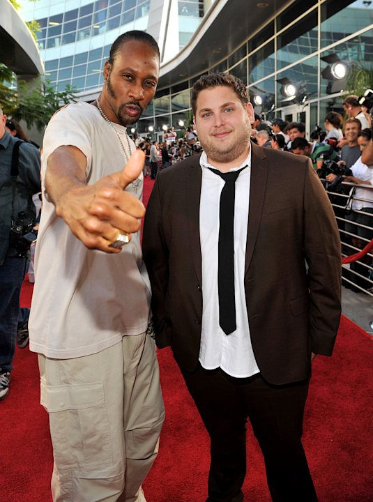 Funny People LA Premiere 2009 RZA and Jonah Hill