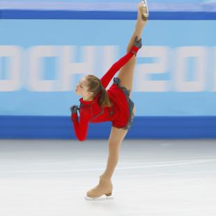 Lipnitskaya of Russia during team ladies' free skating at the Sochi 2014 Winter Olympics