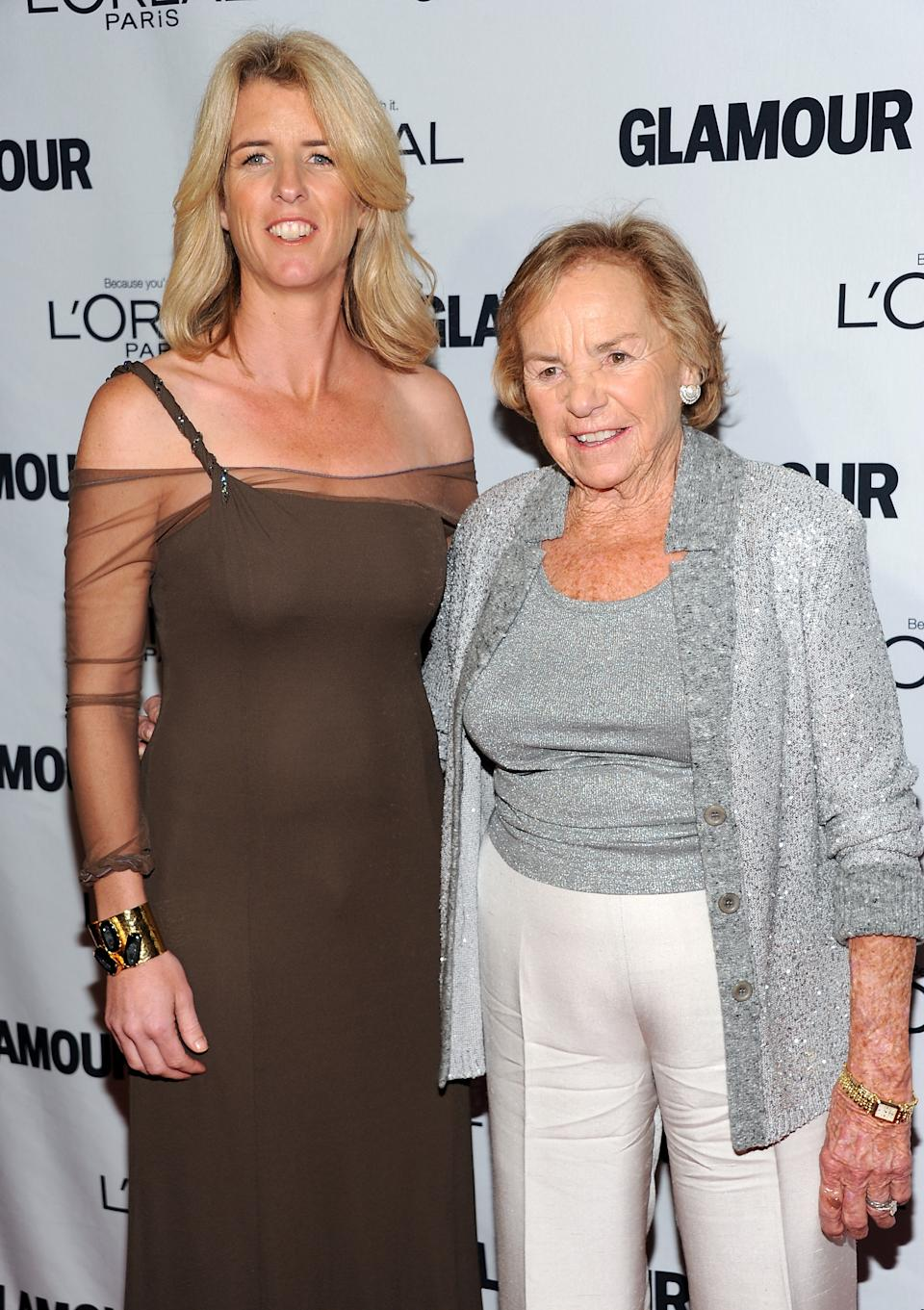 """The Generations"" award winners filmmaker Rory Kennedy, left, and her mother Ethel Kennedy attend Glamour Magazine's 22nd annual ""Women of the Year Awards"" at Carnegie Hall on Monday Nov. 12, 2012 in New York. (Photo by Evan Agostini/Invision/AP)"