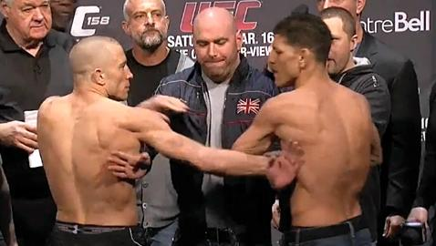 """Nick Diaz and Georges St-Pierre Mind Games Reached """"Uncomfortable"""" Levels"""