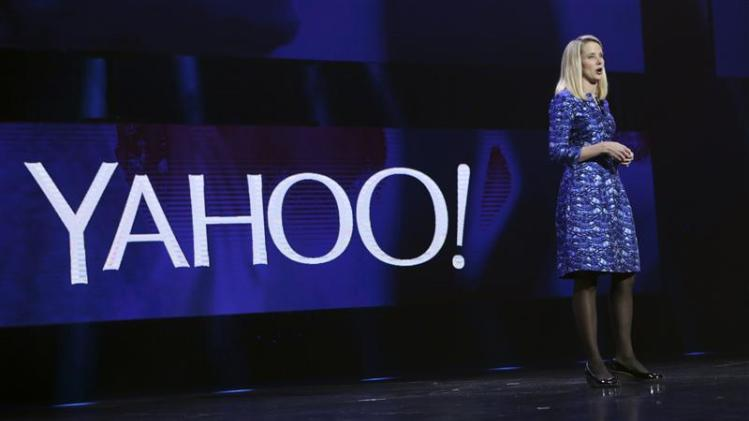 Yahoo CEO Marissa Mayer delivers her keynote address at the annual Consumer Electronics Show (CES) in Las Vegas in this file photo