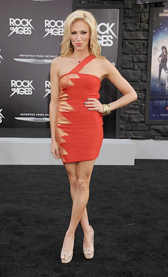 On the black carpet for the &quot;Rock of Ages&quot; film premiere, June 2012