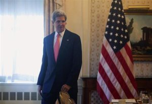 U.S. Secretary of State John Kerry is seen ahead of the U.N. General Assembly in New York