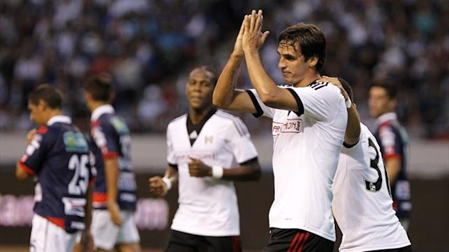 Fulham's Bryan Ruiz applauds the fans on his return to Costa Rica (PA)