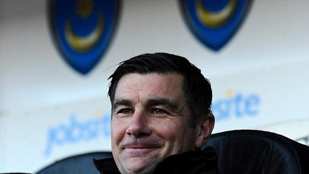 Portsmouth manager Richie Barker saw his side beat Dagenham 1-0