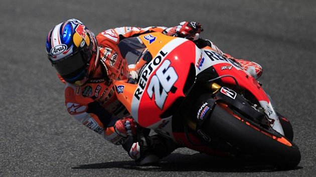 Dani Pedrosa in action (Reuters)