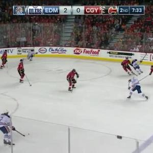 Jonas Hiller Save on Teddy Purcell (12:29/2nd)