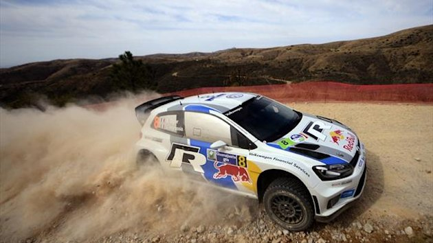 Sebastien Ogier of Volkswagen Motorsport at the FIA World Rally Championship's in Mexico (AFP)