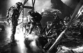 The crew starts their emergency drilling on the asteroid in Touchstone's Armageddon