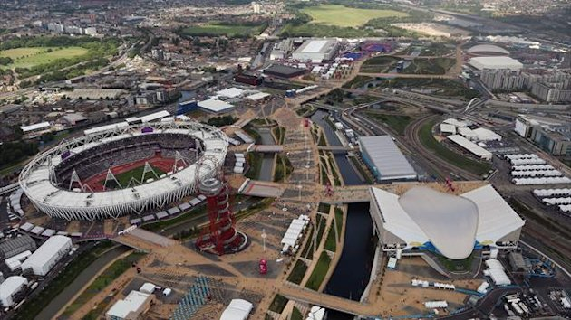 Olympic Stadium and the Olympic Park in London (Reuters)