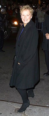 Glenn Close at the New York premiere of Miramax's Iris