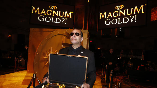 A look at the general atmosphere at the 'As Good As Gold' premiere, a new short film starring Joe Manganiello that celebrates the U.S. arrival of MAGNUM Gold?! Ice Cream. The film debuted during the Tribeca Film Festival Thursday, April 18, 2013 in New York. Visit MagnumIceCream.com for more information  (Photo by Jason DeCrow/Invision for MAGNUM/AP Images)