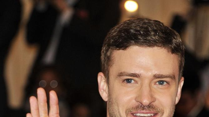 FILE -- In a May 7, 2012 file photo Justin Timberlake arrives at the Metropolitan Museum of Art Costume Institute gala benefit,   in New York.  Myspace is trying to stage yet another comeback with the help of investor Justin Timberlake.  (AP Photo/Charles Sykes)