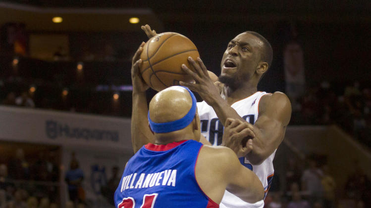 NBA: Detroit Pistons at Charlotte Bobcats