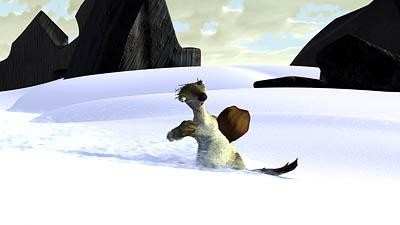 Sid trudges through the snow in 20th Century Fox's Ice Age