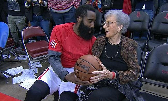 James Harden Shared A Touching Moment With A Fan Celebrating Her 100th Birthday
