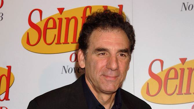 "FILE - This Nov. 17, 2004 file photo shows actor-comedian Michael Richards at the release of the first three seasons of the ""Seinfeld"" on DVD in New York. TV Land says it has cast Richards in a pilot for a prospective new sitcom. The series, ""Giant Baby,"" would also feature fellow ""Cheers"" alums Kirstie Alley and Rhea Perlman. The pilot will be taped next week, the network said Tuesday, dec. 4, 2012. ""Giant Baby"" focuses on Maddie Banks, a Broadway star played by Alley. Richards plays her limo driver while Perlman plays her assistant. (AP Photo/ Louis Lanzano)"