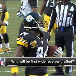 Who will be the first wide receiver drafted in the Pro Bowl?