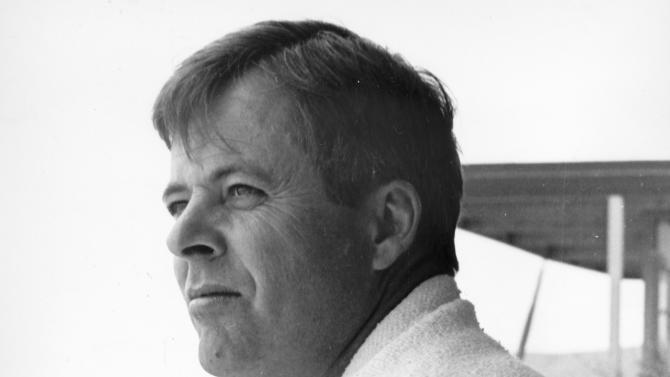 """FILE - In a June 16, 1965 file photo, actor William Windom poses for a photo at his home in Los Angeles. Windom, who won an Emmy Award for his turn in the TV comedy series """"My World And Welcome To It,"""" died Thursday, Aug. 16, 2012 of congestive heart failure at his home in Woodacre, north of San Francisco. He was 88. (AP File Photo)"""